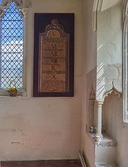 decalogue board and piscina