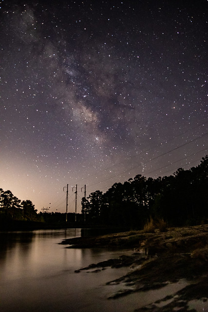 Milky Way over Clarks Hill Lake