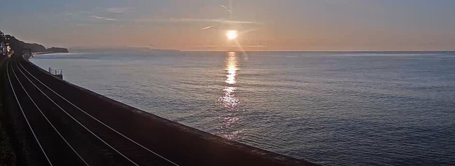 sunrise at Dawlish this morning