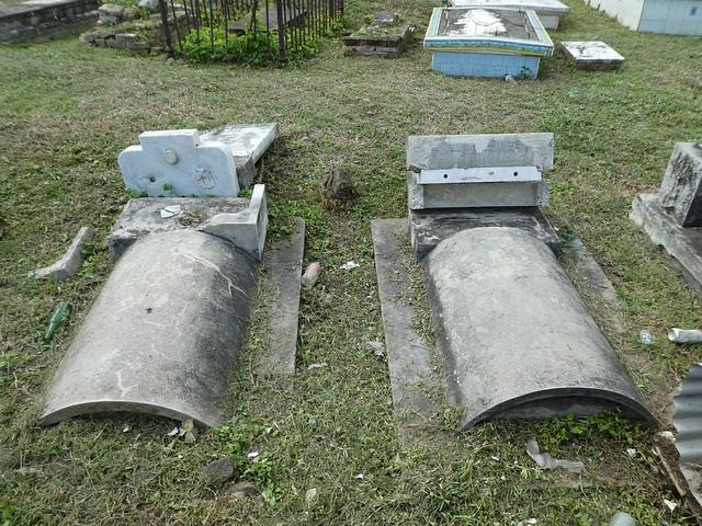 Road Town, Tortola, BVI - Damaged Cemetery