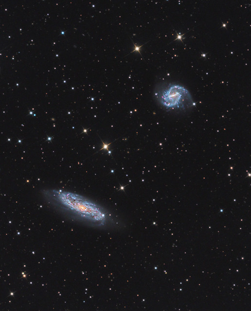 Galaxy Pair NGC 3511 and NGC 3513 in Crater