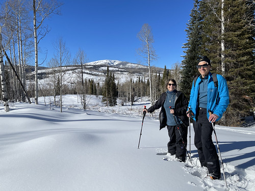 Sandy and Ira Bornstein participating in private snow shoe excursion offered by the ranch. From History Comes Alive at Colorado's Vista Verde Ranch
