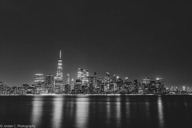 Manhattan in B&W at Night