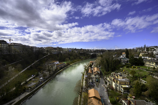 View from the Kornhaus bridge - Bern City - Switzerland