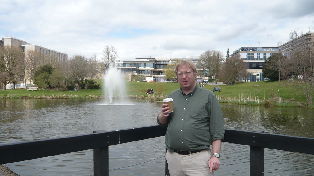 Martin in front of the lake