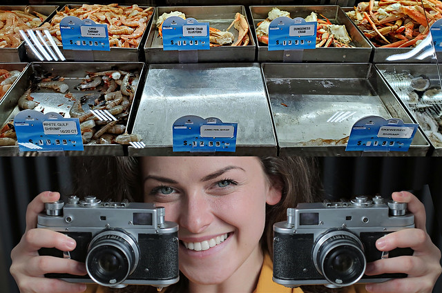 Shrimp and Julie with her Cameras
