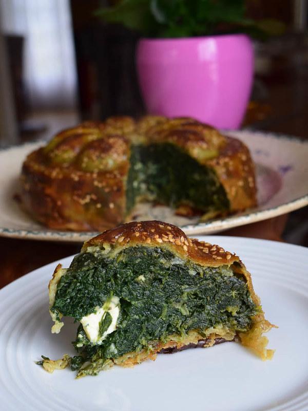Tourte pâte filo aux épinards et féta (Spanakopita grecque) 2