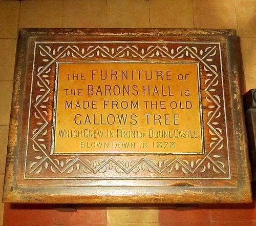 Plaque in Doune Castle