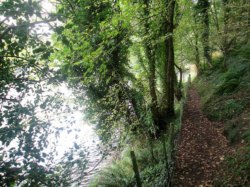 Path by River Teith near Doune Castle