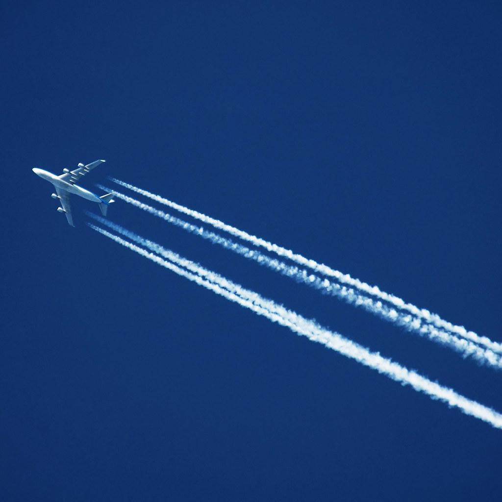 Aeroplane up high.