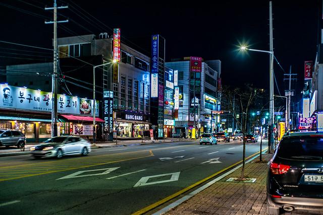 Cheonan at night