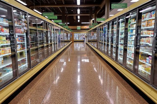 Frozen food aisle at Publix in Glen Allen, Virginia