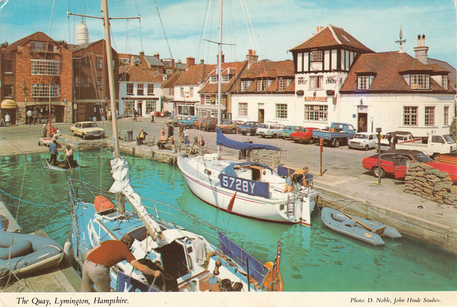 The Quay, Lymington old pastcard  late 1970s