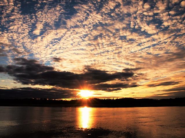 Sunset on the Warwick River,.......... Virginia.