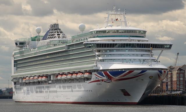 P&O Cruises: AZURA (9424883 2010 115055gt) North Shields