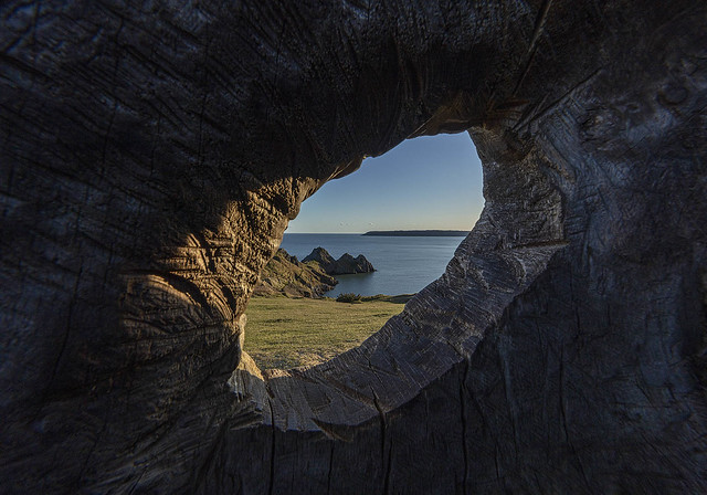 Three Cliffs through a keyhole! - Explore 13.4.2021