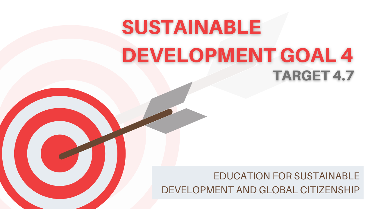 Target with text overlay 'Sustainable Development Goal 4'