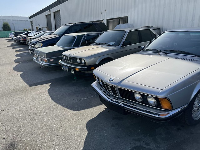 Lots of old Bimmers/Mercedes
