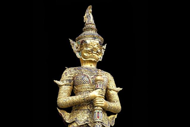 Thailand - Bangkok - Wat Phra Kaeo - Guardian - 9d