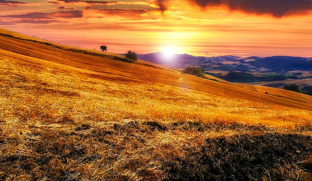 Sunrise in the countryside (2)