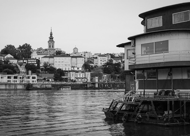 Belgrade and the Sava river