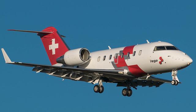 HB-JWA  REGA Bombardier Challenger 650 @ ARN