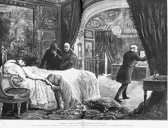 Pintura de los últimos momentos de Alfonso XII en El Pardo