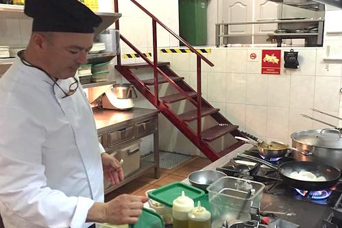 El chef Nelson Pérez en una imagen del Instagram del Restaurante Nelson de Arinaga