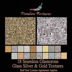 TT 18 Seamless Glamorous Glass Silver & Gold Timeless Textures