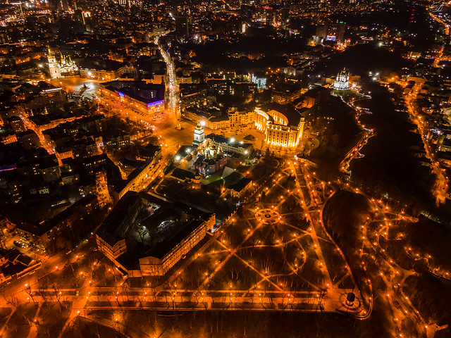 Triangles of evening Kyiv