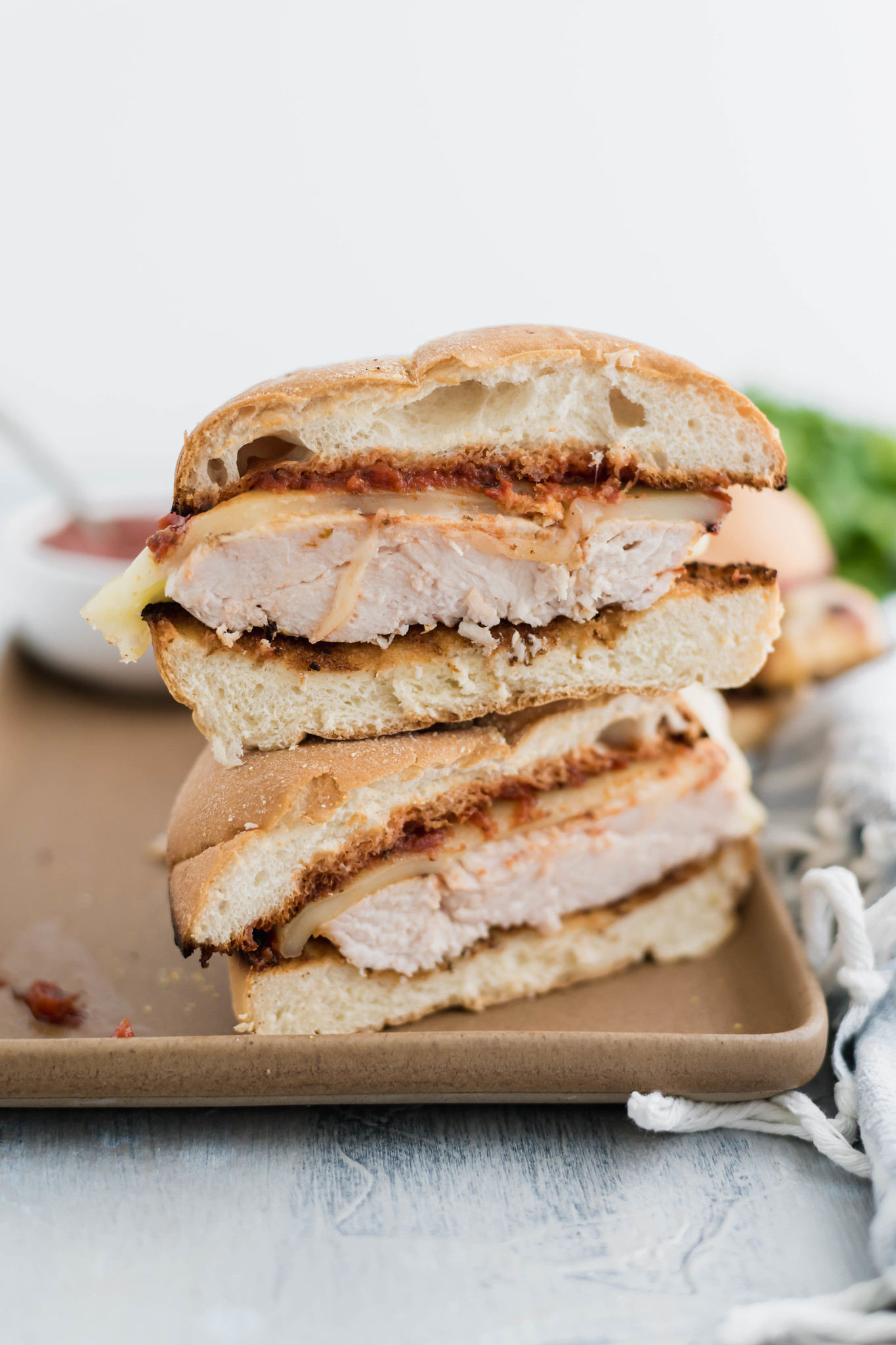 Easy, delicious and perfect for summer, this Grilled Chicken Parmesan Sandwich will quickly become a weeknight favorite. Grab 5 simple ingredients and get dinner on the table fast.