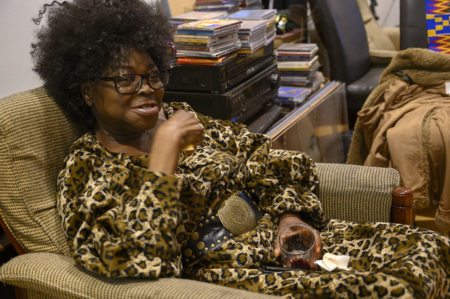 DSC_9817 Gifty from Ghana in Leopard Animal Skin Print African Dress Shoreditch Studio London Friends Reunion