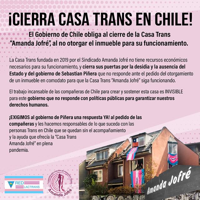 Cierra Casa Trans Chile