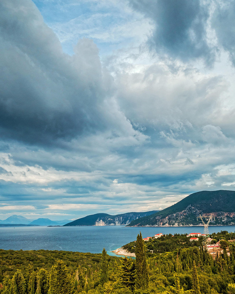 Cloudy Outlook - Fiskardo (Northern Kefelonia - Greece) (Fuji Superia Reala 100) (Olympus OM-D EM1-II & Leica 15mm f1.7 Prime)