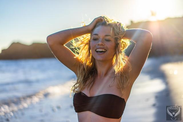 Beautiful Malibu California Beach Bikini Swimsuit Model Surf Goddess 45SURF 45EPIC The Birth of Venus! Malibu Southern California Beach Athletic Fitness Surf Girl Model!  Helen from Homer's Odyssey Fine Art Woman's Portrait Photography!