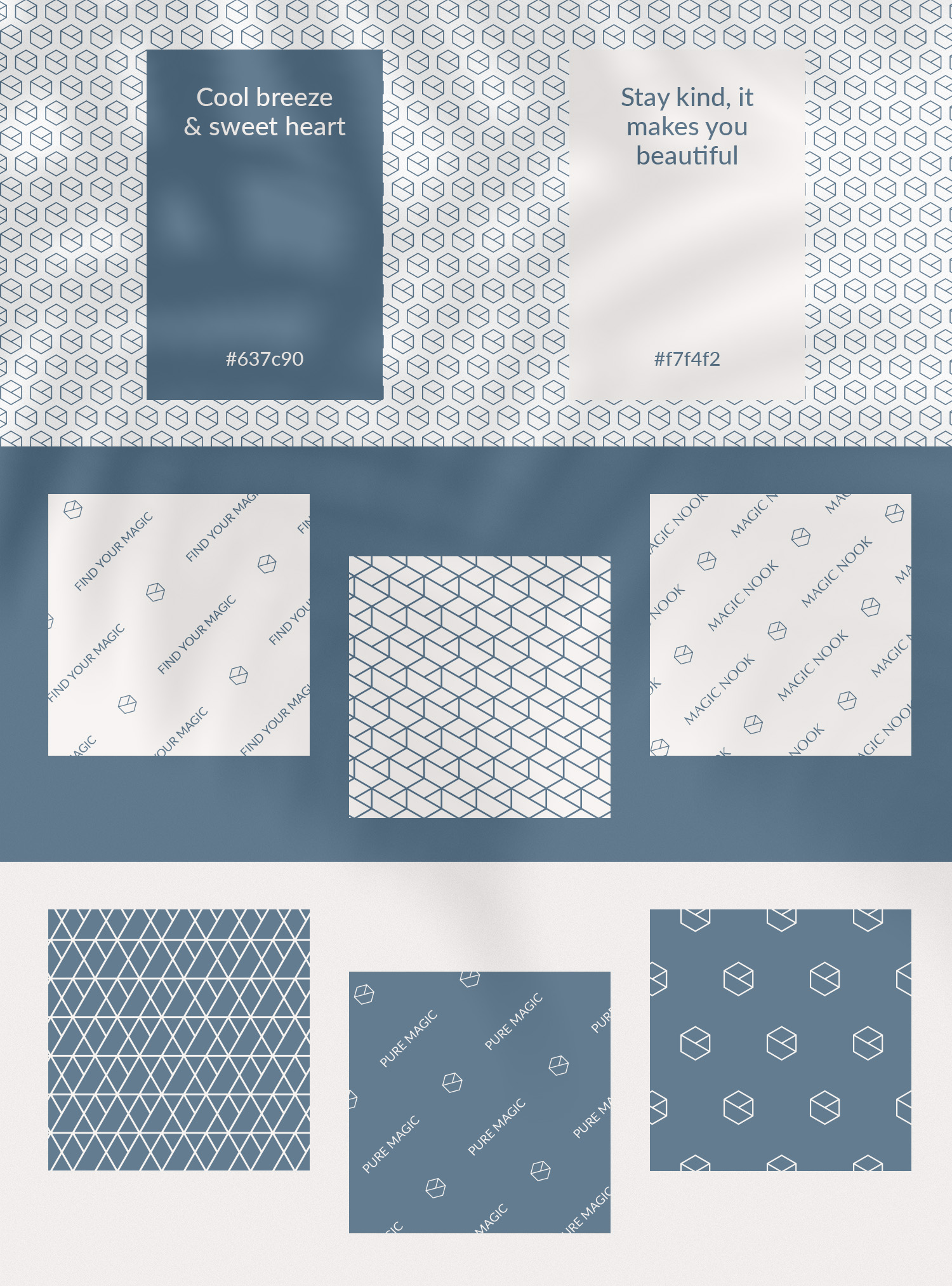 MAGIC NOOK Visual Identity 04 - Primary color palette and patterns