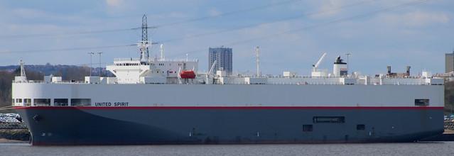 MV Carrier: UNITED SPIRIT (IMO 9185047 2000 37949gt) Jarrow Car Terminal