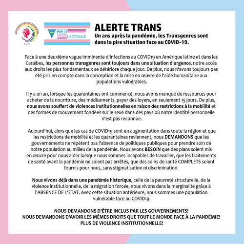 Alerta Trans 2021 COVID19