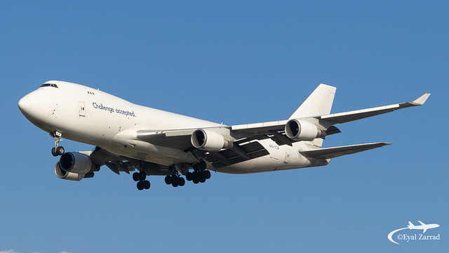 TLV - CAL Cargo Boeing 747-400 Freighter 4X-ICA