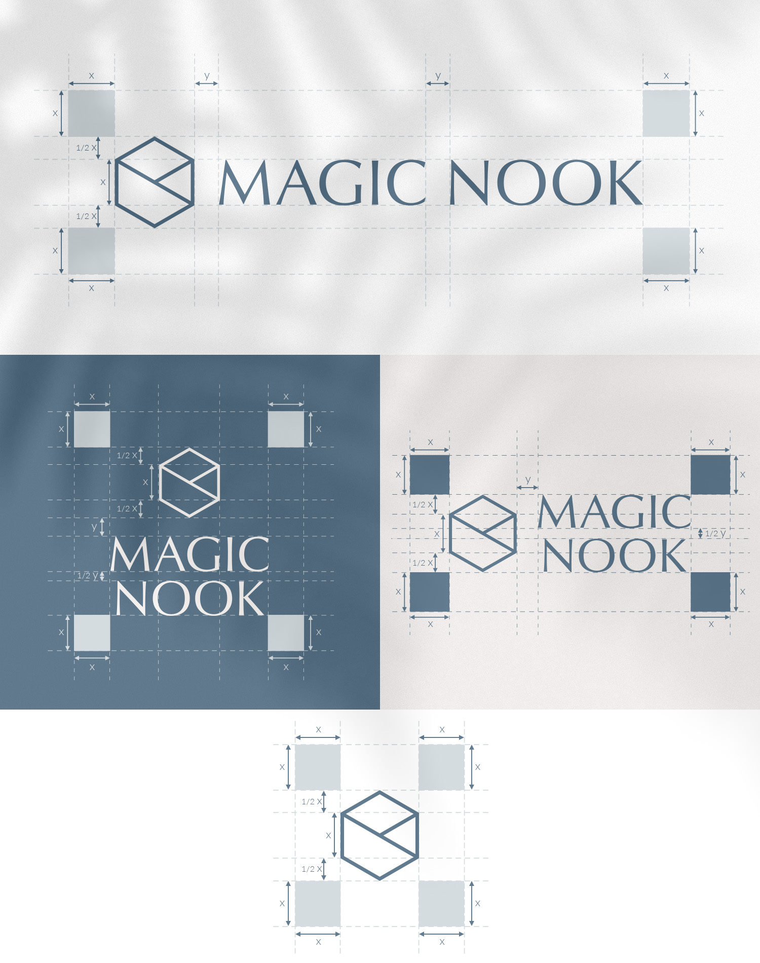 MAGIC NOOK Visual Identity 03 - Logo construction and clear space