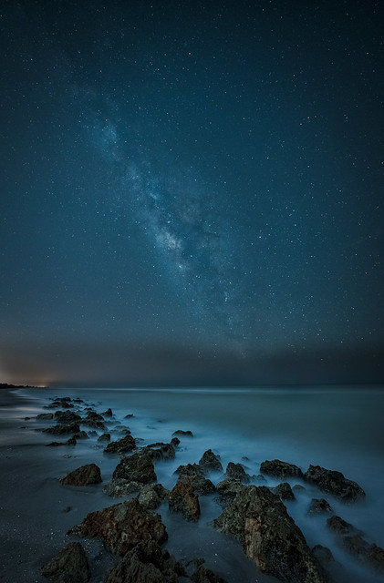 The Milky Way over Caspersen Beach near South Venice, Florida