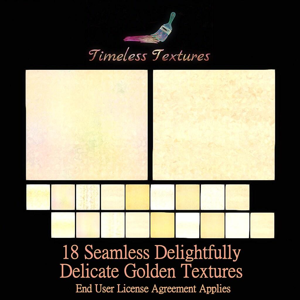 TT 18 Seamless Delightfully Delicate Golden Timeless Textures