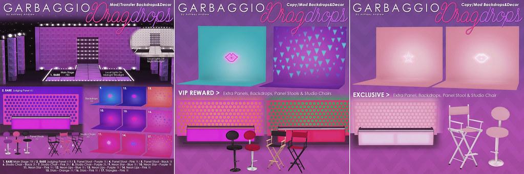DragDrops Drag Backdrops Gacha Key+Rewards