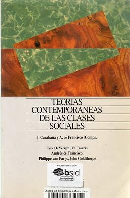 Julio Carabaña, Teorías contemporáneas de las clases sociales
