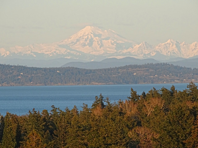 Mt Baker in the distance as seen from Victoria, B.C. Canada