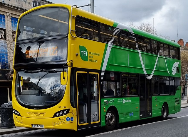 Dublin Bus SG 294 In The New NTA Livery that will eventually be on all NTA owned buses  run by Dublin Bus and Go Ahead Ireland