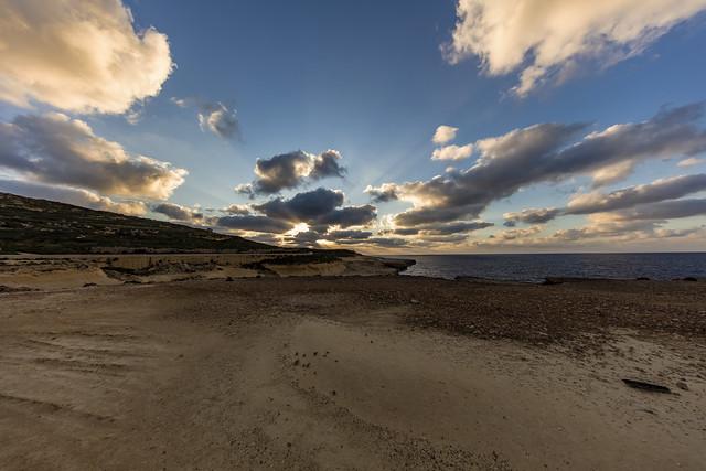 Xwejni Coast Sunset