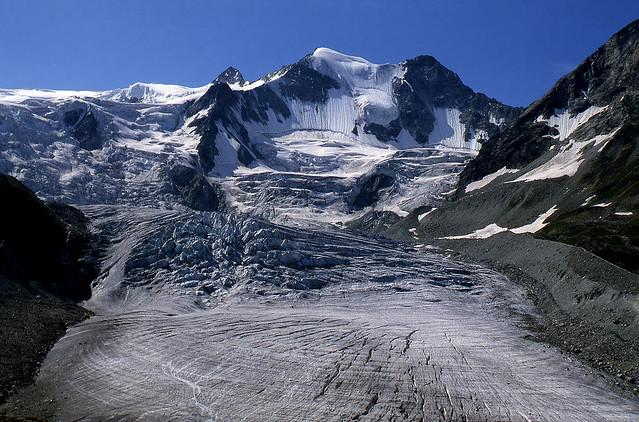 Il ghiacciaio di Moiry (agosto 1981)