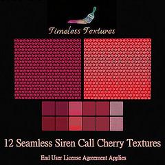 12 Seamless Siren Call Cherry Timeless Textures