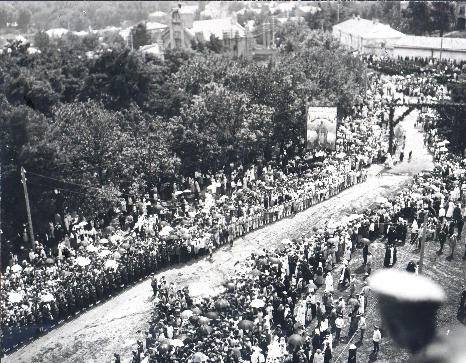 225. 1918. Второй Кубанский поход. Торжественная встреча Добровольческой армии в Ставрополе